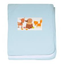 Woodland Animals baby blanket