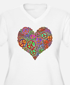 Peace Sign Heart T-Shirt