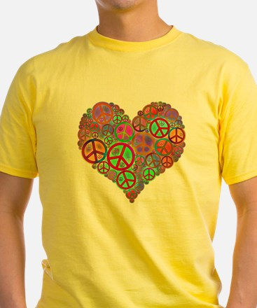 Peace Sign Heart T