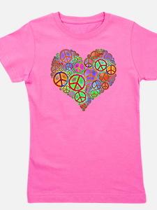 Peace Sign Heart Girl's Tee