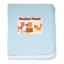 Woodland Friends baby blanket