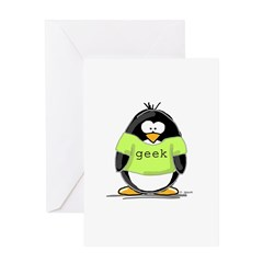 Geek penguin Greeting Card