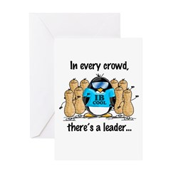 In Every Crowd Penguin Greeting Card