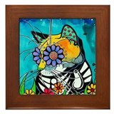 Sugar skull animal Framed Tiles
