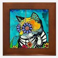 Cute Kitties Framed Tile