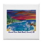 Carmel River State Beach Tile Coaster