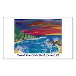 Carmel River State Beach Sticker (Rect.)
