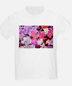 Sweet peas color stained glass pattern sha T-Shirt