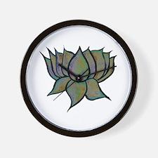 Solar Lotus Flower Wall Clock