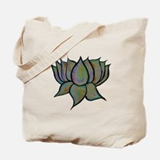 Solar Lotus Flower Tote Bag