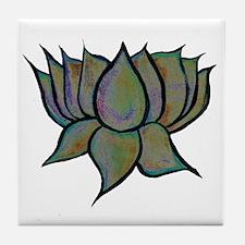 Solar Lotus Flower Tile Coaster
