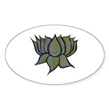 Solar Lotus Flower Oval Decal