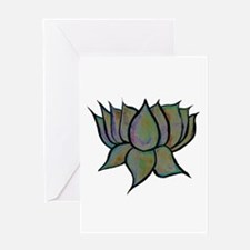 Solar Lotus Flower Card Blank Greeting Cards