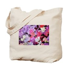 Sweet peas color stained glass pattern sh Tote Bag