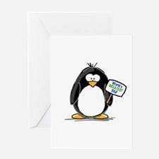 World's Greatest Dad Penguin Greeting Card
