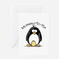 Mommy to Be Penguin Greeting Card
