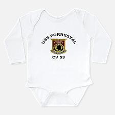 CV-59 Forrestal Long Sleeve Infant Bodysuit
