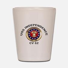 USS Independence CV-62 Shot Glass