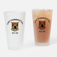 CV-59 Forrestal Drinking Glass