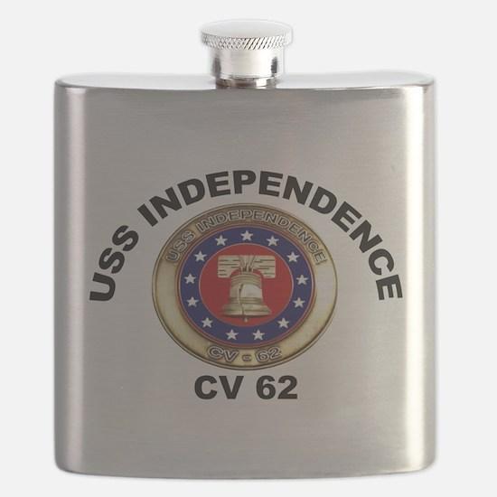 USS Independence CV-62 Flask