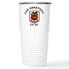 USS Saratoga CV-60 Travel Mug
