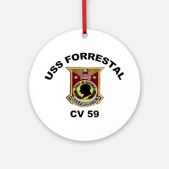 CV-59 Forrestal Ornament (Round)