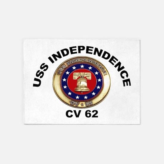 USS Independence CV-62 5'x7'Area Rug