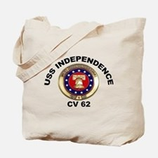 USS Independence CV-62 Tote Bag
