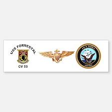 CV-59 Forrestal Bumper Bumper Sticker