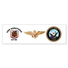 USS Saratoga CV-60 Bumper Sticker