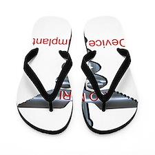 Medical Alert Device Implant NO MRI Flip Flops