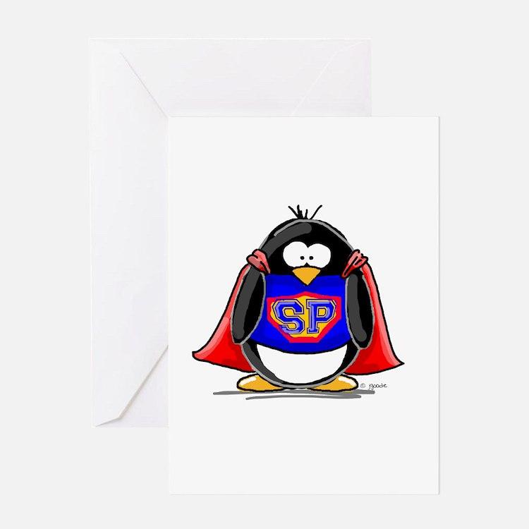 Superhero penguin Greeting Card