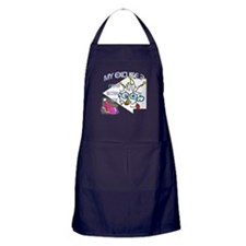 April Fool Birthday Man Apron (dark)