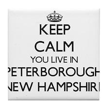 Keep calm you live in Peterborough Ne Tile Coaster