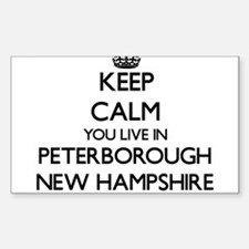 Keep calm you live in Peterborough New Ham Decal