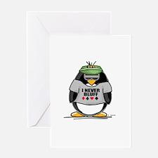 Poker Penguin Greeting Card