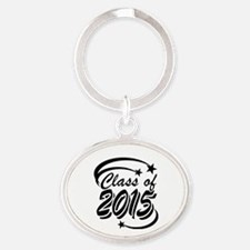Class of 2015 with Stars in black Keychains