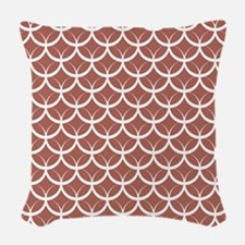 Dusty Rose Circle Pattern Woven Throw Pillow