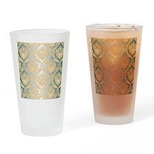 Elegant Damask Design Drinking Glass