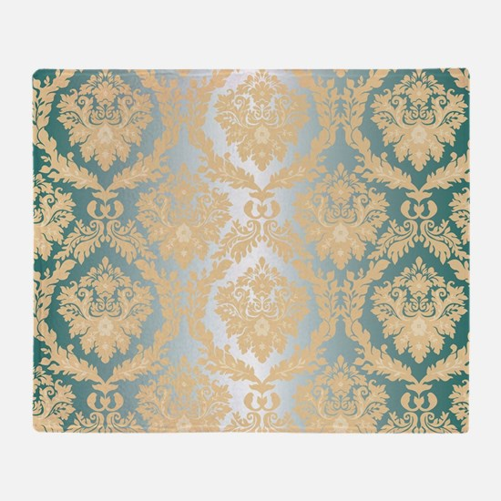 Elegant Damask Design Throw Blanket