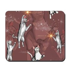 Funny playing cartoon cats Mousepad
