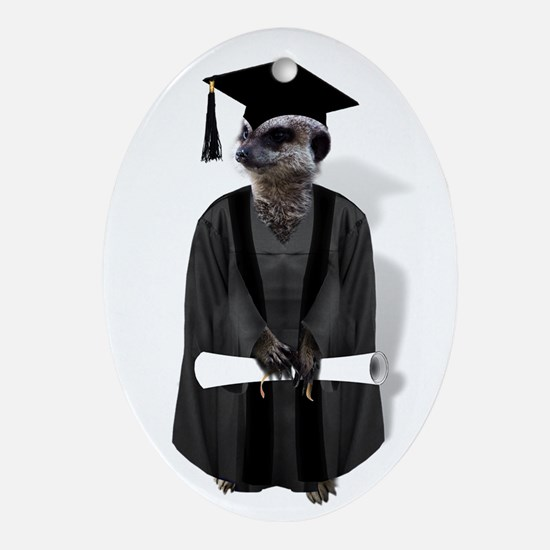 MEERKAT GRADUATE Ornament (Oval)