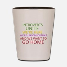 Introverts Shot Glass
