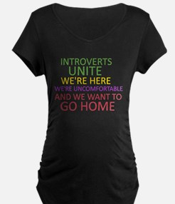 Introverts Maternity T-Shirt