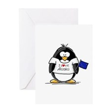 Alaska Penguin Greeting Card