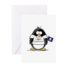 Connecticut Penguin Greeting Card