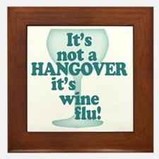 Funny Wine Drinking Humor Framed Tile