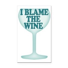 Funny Wine Drinking Humor Rectangle Car Magnet