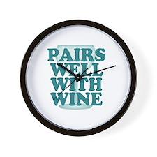 Funny Wine Drinking Humor Wall Clock