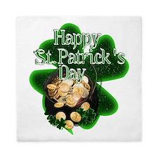 St Patrick's Day Pot of Gold Queen Duvet